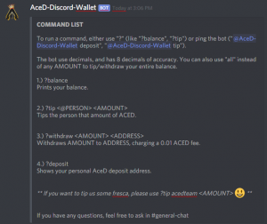 @AceD Discord Wallet