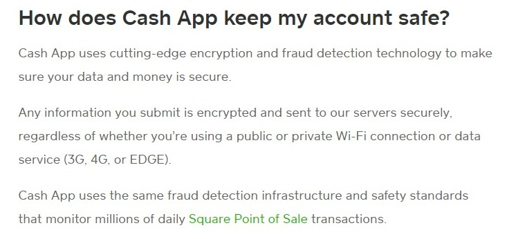 how secure is cash app