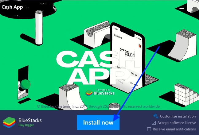 cash app bluestacks