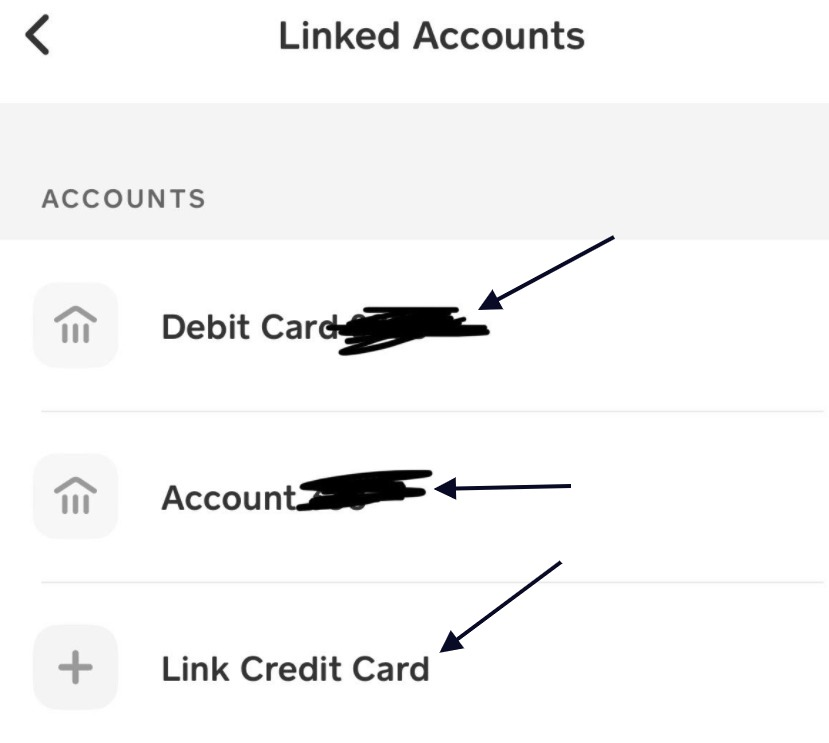 cash app linked accounts
