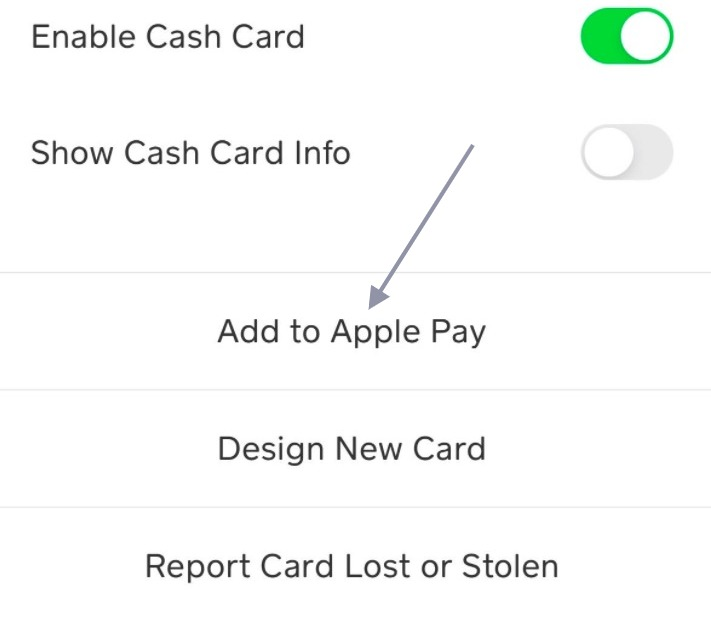 cash app add to apple pay