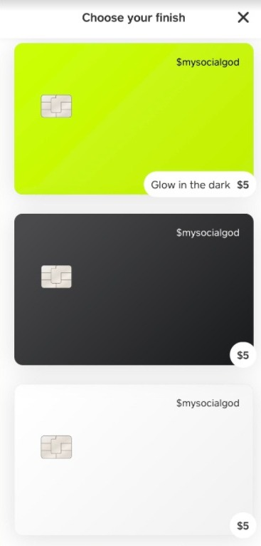 cash app design a card
