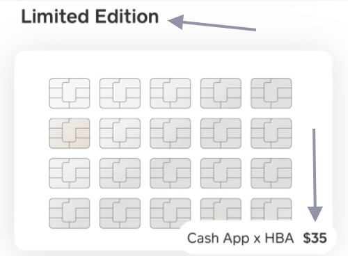 cash app card limited edition