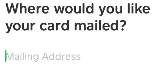 cash app request a card mailing address