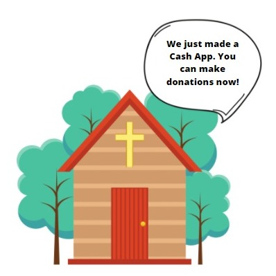 can you use cash app to make church donations