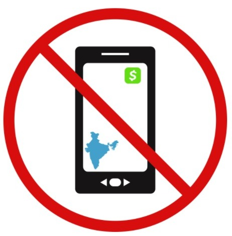 is cash app banned in india