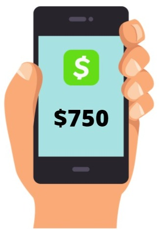 is cash app giving away 750 real