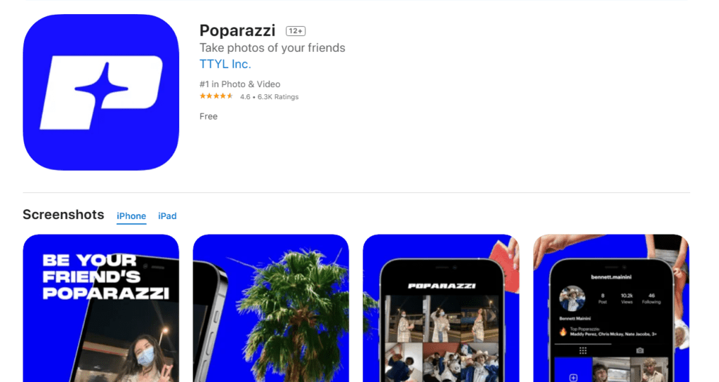 Snap Photos Of Friends With The Poparazzi App